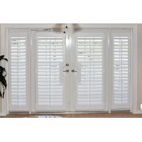 Wholesale 100% basswood french door shutters for door and windows with handle from china suppliers