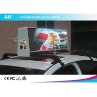 Wholesale High Brightness Led Taxi Top Advertising Signs With Wireless Control , 192×64 Pixel from china suppliers