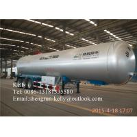 Wholesale Gas delivery LPG Semi Trailer Truck , FUWA 13 Ton Tri Axle Liquid Tank Trailers from china suppliers