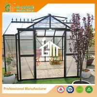 Wholesale 381 X 377 X 250CM Black Color 8mm Thick Polycarbonate Garden Greenhouse from china suppliers