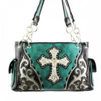 Wholesale western fashion cross glass bags with rhinestone patchwork handbags from china suppliers