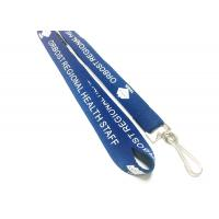 Quality Deep Blue Requested Breakaway Neck Lanyards , Screen Printed Lanyards For Women for sale