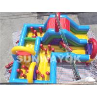 Wholesale Colorful Amusement Park Large bouncy assault course hire With double stitching from china suppliers