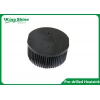 Wholesale black round pin fin pre drilled heatsink 133mm aluminum led heat sink from china suppliers