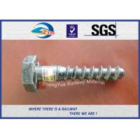 Wholesale Railway Sleeper Screw Spike HEX Head Hot Deep Galvanized from china suppliers