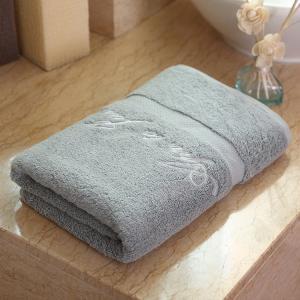 Quality Hotel Spa Hotel Bath Towels 100% Cotton Dobby Border Set 70*140cm for sale