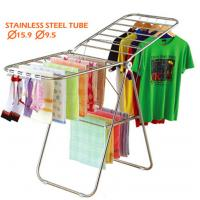 Wholesale Butterfly Metal Clothes Drying Rack , Steel Pipe Wing Aircraft Foldable Cloth Rack from china suppliers