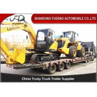Wholesale 80 T Low Loader Trailer , 2 Sets Spring / Hydraulic Ladder Low Flatbed Trailer  from china suppliers