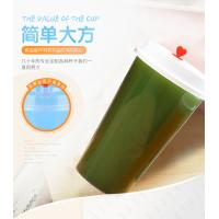 Wholesale Printed Pp Plastic Cup With Dome Lid , Transparent Plastic Juice Cup With Straw from china suppliers