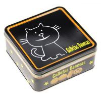 Wholesale Galletas Danesas Tin Cookie Containers Black Color Printed Box 0.23 mm Thickness from china suppliers