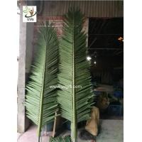 Wholesale UVG outdoor ornamental artificial palm tree branches and leaves for theme park landscaping PTR057 from china suppliers