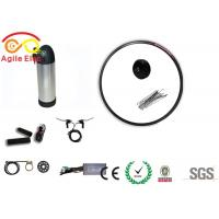 Quality 36V 350W Black Electric Bike Wheel Motor Kit With Bottle Type Lithium Battery for sale