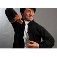 Quality Hyper Silicone Sculpture Of Asian Movie Waxwork , Realistic Wax Sculptures for sale