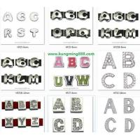 Buy cheap Rhinestone Slider Letter,Crystal Slider Alphabet,DIY Letters from wholesalers
