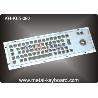 Wholesale Metal Rugged Industrial Keyboard with Trackball , 65 Keys Vandal proof from china suppliers