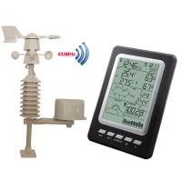 Wholesale Professional Temperature Humidity Rain Pressure Wind Speed Wind Direction Wireless Weather Station Solar Powered MS1030 from china suppliers