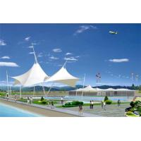 Wholesale Sun Shelter Hotel Platform Steel Car Canopy Tents Membrane Structure Projects With PVDF Material Cover from china suppliers