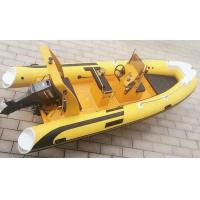 Wholesale 17ft  Korea PVC colorful hull  inflatable rib boat  rib520A with   sunbed center console from china suppliers