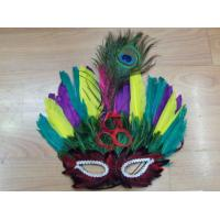 Wholesale Halloween Mardi Gras Carnival Feather Party Half Face Mask from china suppliers
