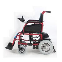 Quality Self Braking Battery Powered Wheelchair Electric 12 Inch 250W 24V Steel Frame for sale