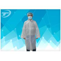 Wholesale PE Disposable Visitor Coats By Polyethylene Fabric CE Certificated from china suppliers