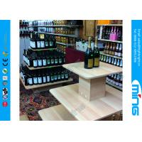 Wholesale Simple Square Economy Wooden Store Display Table, Wine Display Stand from china suppliers