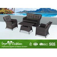 Buy cheap Long Lasting Wicker Rattan Kitchen Garden Patio Seating Sets WITH 8cm Seat And Back Cushion from wholesalers