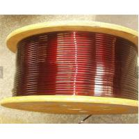 Wholesale 0.8 - 5.6mm Super Fine Flat Copper Wire , Purple Solderability Motor Winding Wire from china suppliers