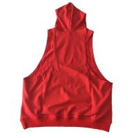 Buy cheap Custom Mens Plain Racerback Fitness Muscle Gym Bodybuilding Stringer Sleeveless Hoodie from wholesalers