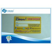 Wholesale 85.5mm x 54mm Business Plastic Card Printing Signature Panel Yellow from china suppliers