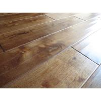 Wholesale Birch Solid hardwood Flooring, handscraped with chatter mark and stained color from china suppliers