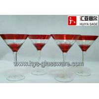 Wholesale Engraved martini/cock tail glasses, hand blown, china glass supplier from china suppliers