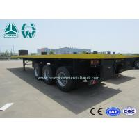 Quality 3 Axles 20 Ft / 40 Ft Container Flatbed Trailer For Cargo Transport for sale