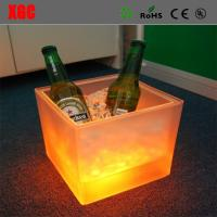 Wholesale Fashion Design Square LED Colorful Light Ice Bucket with IR remote from china suppliers