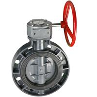 Wholesale Worm actuated wafer type butterfly valve from china suppliers