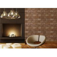Wholesale PVC 3D Brick Printing Natural Style Interior Room Wallpaper 0.53*10M from china suppliers