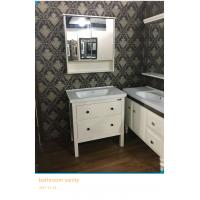 Wholesale White Square Traditional Bathroom Vanities With Waste Drain 80cm from china suppliers