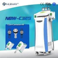 Buy cheap 80% clinic used Promotion 5 handles (Crolipolisis+RF+vacuum+cavitation) CoolSculpting fat freeze machine for weight loss from wholesalers
