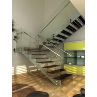 Wholesale Stainless Steel Straight Staircases For Residential Building / Houses from china suppliers