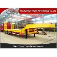 Wholesale 40 Ton 50 Ton 60 Ton Long Vehicle Low Bed Loader Semi Trailer , Low Bed Transport from china suppliers