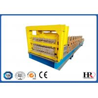 Wholesale metal roofing sheet wall panel three layer roll forming machine from china suppliers