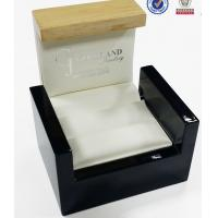 Wholesale Double Ring Wooden Display Gift Boxes /  Jewelry Boxes For Girls White PU Inside from china suppliers