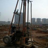 Buy cheap 2 Wheels Trailer Geotechnical Portable Water Drilling Rig With Mud Pump from wholesalers