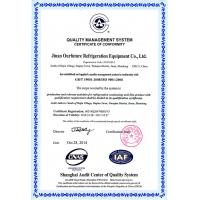 Jinan Ourfuture Refrigeration Equipment Co., Ltd. Certifications