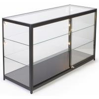 Wholesale 72 Inch Mobile Counter Display Showcase , Sliding Door Lighted Glass Display Case from china suppliers