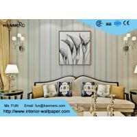 Wholesale Living Room Modern Removable Wallpaper Blue Color With Natural Plant Fibers , 0.53*10m/ roll from china suppliers