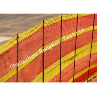 Wholesale 100% HDPE Orange / Yellow Safety Barrier Netting For Temporary Structure , Hexagon Mesh Nets from china suppliers