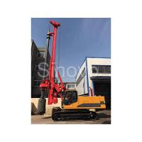 Quality TR100 Rotary Hydraulic Drilling Rig 100 KN.M Self - Erecting Rig Electronic Control for sale