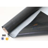 Wholesale 0.5mm 3732 Black Silicone Rubber Coated Fiberglass Cloth For Fabric Expansion Joint from china suppliers
