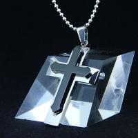 Wholesale Fashion Top Trendy Stainless Steel Cross Necklace Pendant LPC407 from china suppliers